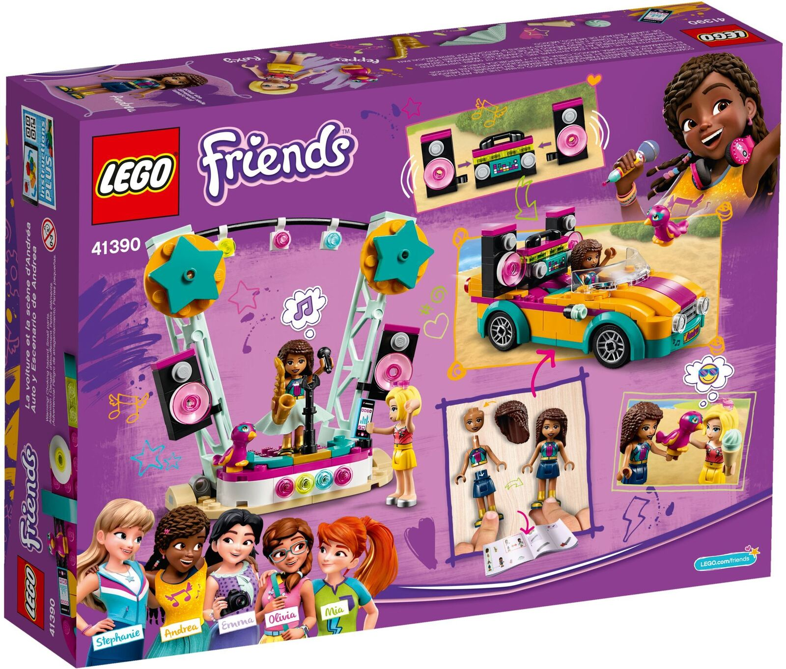 LEGO Friends Andrea's Car & Stage 41390
