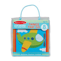 Melissa & Doug Bath Time Soft Shapes Puzzles - Vehicles