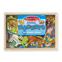 Melissa & Doug Wooden Animal Magnets in a Box 20pcs
