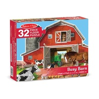 Melissa & Doug Busy Barn Shaped Floor Puzzle 32pc
