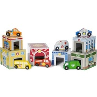 Melissa & Doug - Nesting & Sorting Buildings & Vehicles