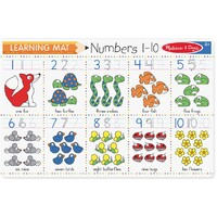 Melissa & Doug Learning Mat Numbers 1-10