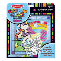 Melissa & Doug Peel & Press Stained Glass Made Easy - Unicorn 9299