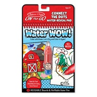 Melissa & Doug On the Go Water WOW Farm Connect the Dots Water-Reveal Pad