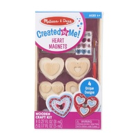 Melissa & Doug Created by Me! Wooden Craft Kit Heart Magnets