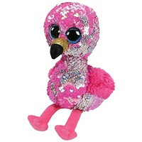TY Beanie Boos Flippables Sequins Regular Pinky Flamingo
