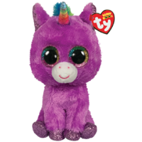 TY Beanie Boos Medium Rosette Purple Unicorn