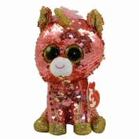 TY Beanie Boos Flippable Sequins Regular Sunset Coral Unicorn