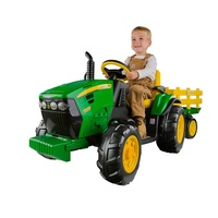 Peg Perego John Deere 12V Ground Force Tractor & Trailer made in USA