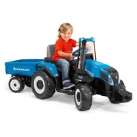 Peg Perego New Holland 12 volt Tractor and Trailer