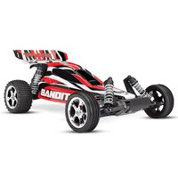 TRAXXAS Bandit 1/10 Ready-To-Race Radio Control Buggy 55 Kmh with Battery & Charger 24054-1 - RED