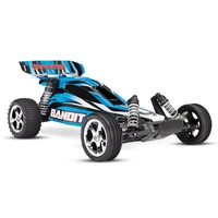 TRAXXAS Bandit 1/10 Ready-To-Race Radio Control Buggy 55 Kmh with Battery & Charger 24054-1 BLUE