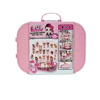 LOL Surprise Fashion Show On-The-Go Suitcase inc Fan Fav Doll - light pink lid