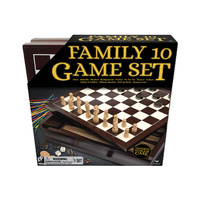 Cardinal Family Game Set: Ten Classic Games in Wood Cabinet