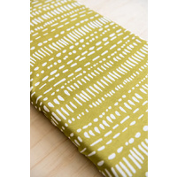 Kiin Moss Fitted Bassinet/Change Mat Sheet