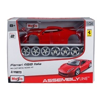 Maisto Assembly Line Ferrari 458 Italia 1:24 Scake Die-Cast Model Kit