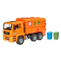 Bruder MAN TGA Garbage Truck Rear Loading Orange 1:16 Scale 02760