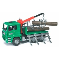 Bruder MAN TGA Timber Truck With Loading Crane & Logs 1:16 Scale 02769