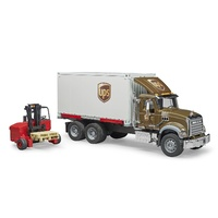 Bruder Mack Granite UPS Logistics Truck with Forklift 02828