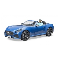 Bruder Blue Roadster with Driver 03481