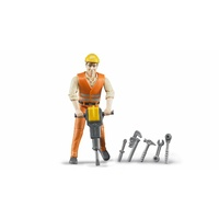 Bruderworld Construction Worker with Accessories 60020