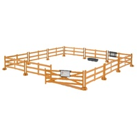 Bruder Accessories: Pasture Fence - Brown Post & Rail 62604