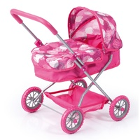 Bayer Smarty Doll Pram Pink Circles