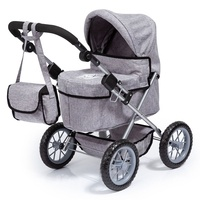 Bayer Trendy Doll Pram Denim with Crown Motif