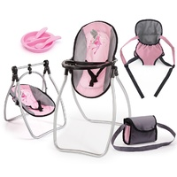 Bayer High Chair 9 in 1 Set Pink Grey