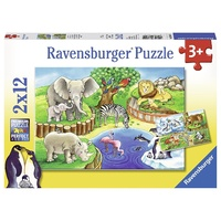 Ravensburger Animals In The Zoo 2x12Pc 07602