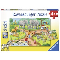 Ravensburger A Day At The Zoo 2x24pc Puzzle 07813