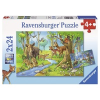 Ravensburger Animals Of The Forest 2x24pc Puzzle 09117