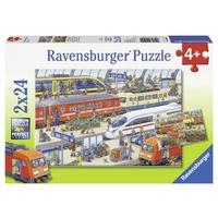 Ravensburger Busy Train Station 2x24pc Puzzle 09191