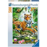 Ravensburger Tiger in the Jungle Puzzle 500pc 147427