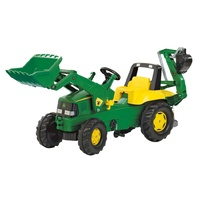 Rolly Toys John Deere Pedal Tractor with loader & excavator