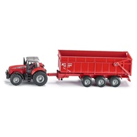 Siku Massey Ferguson Tractor with Trailer 1:87 scale diecast 1844