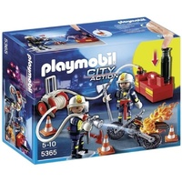 Playmobil Firefighters with Water Pump 5365 Fireman toy