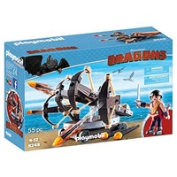 Playmobil Dreamworks Dragons Eret with 4 Shot Fire Ballista 9249