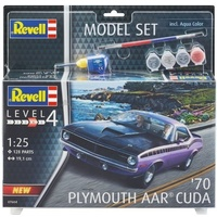 Revell 1970 Plymouth AAR Cuda plastic model kit inc paint & glue 1:25 scale