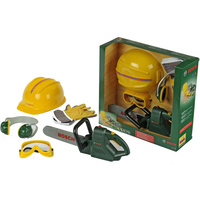 Bosch Chainsaw, Helmet & Accessories Pretend Play Toy