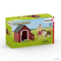Schleich Farm World Dog Kennel 42376