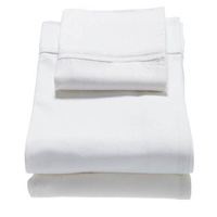 Babyhood Cot Sheet Set White with White Piping