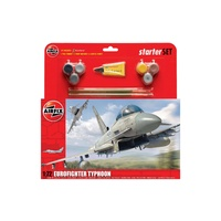 Airfix Starter Set Model Kit Eurofighter Typhoon 1:72 scale inc paint glue