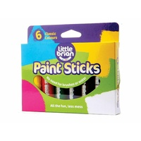Little Brian Paint Sticks Classic Colours 6 pack - Mess Free Painting