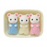 Sylvanian Families Marshmallow Mouse Triplets 5337