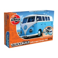 Airfix Quickbuild VW Camper Van - blue model building kit