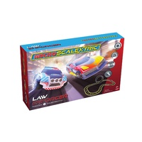Micro Scalextric Law Enforcer Slot Car Set inc Police SUV v Concept Maelstrom 1:64 scale