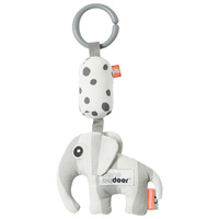 Done by Deer Baby To-Go Friend Rattle Elphee Elephant Grey