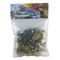 Plastic Miltary Toy Soldiers in Bag