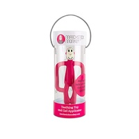 Matchstick Monkey Teething Toy and Gel Applicator - Rubin Red